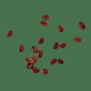 凌乱散落的咖啡豆