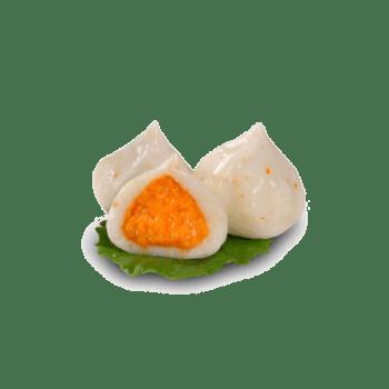 火锅食材蟹黄包