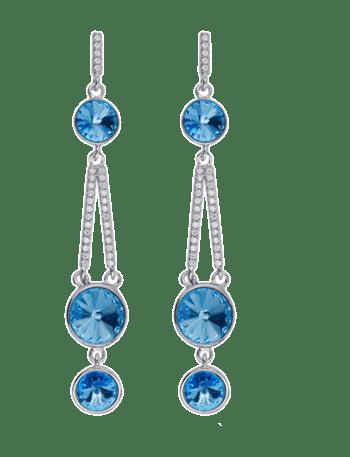 S925银镶嵌施华洛水晶耳环