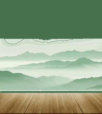中国风木台远山