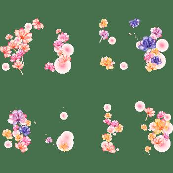 唯美背景梦幻花朵背景矢量合集