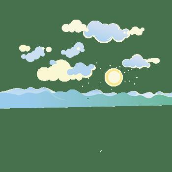 晴空万里下的大海背景矢量