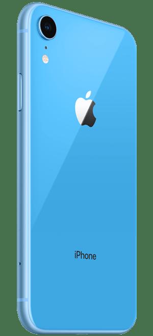 iphonexr蓝色款背面侧拍免抠素材