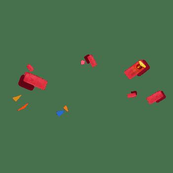 红包飘散素材