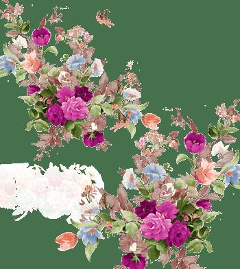 水彩可爱的花标签