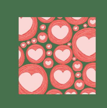红色浪漫手绘爱心背景
