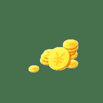 一堆金币钱币