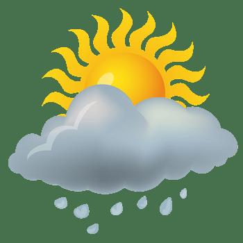 阵雨天气图标素材