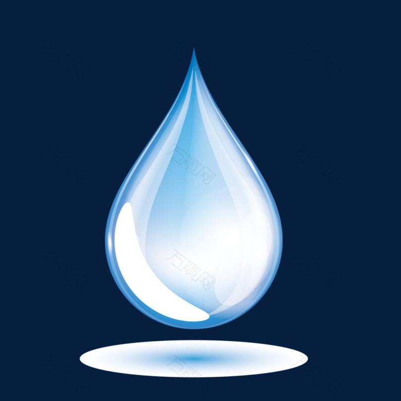 蓝色水滴矢量图