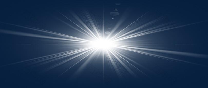 白色特效放射光