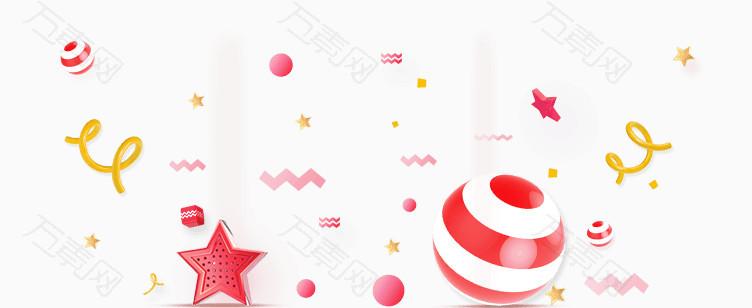 糖果粉色漂浮装饰