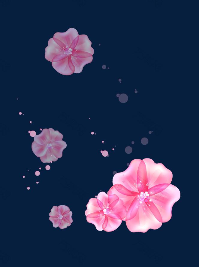 梦幻粉色花