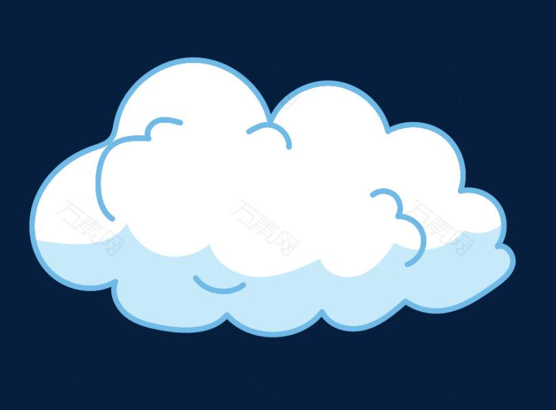 卡通小云朵图标