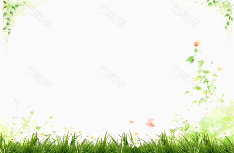 清新绿色绿叶花朵