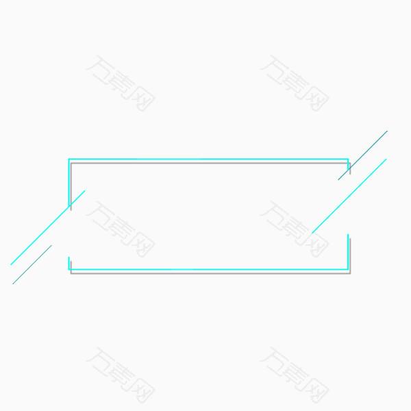 清新方形文字框