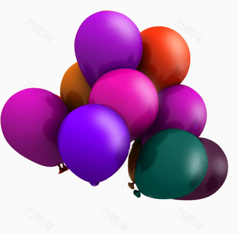 双十一彩色气球素材