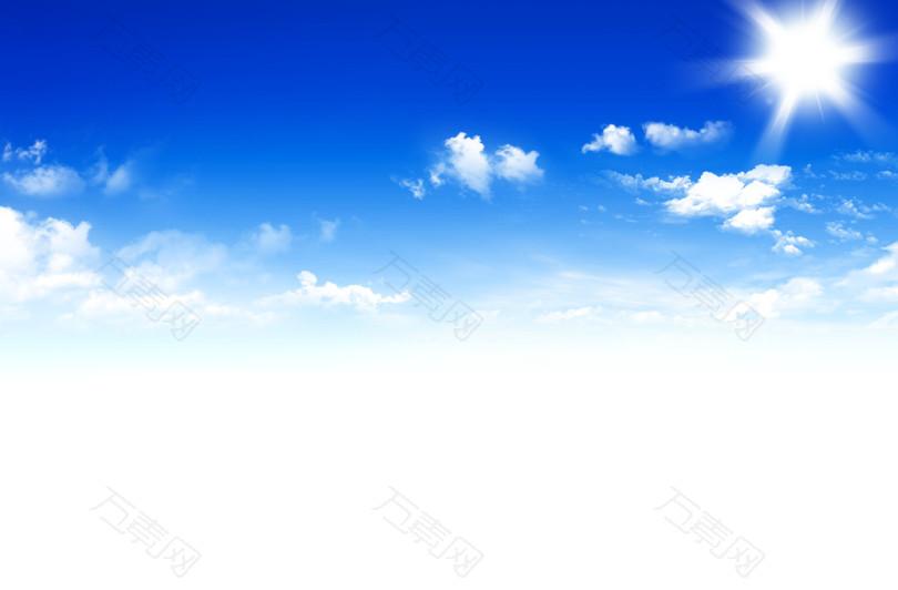 天空背景,白云,阳光