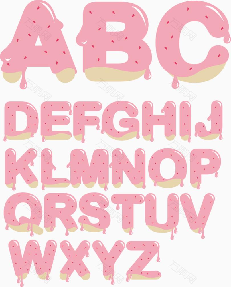 巧克力字母元素
