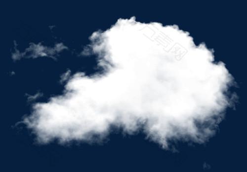 白色的薄云