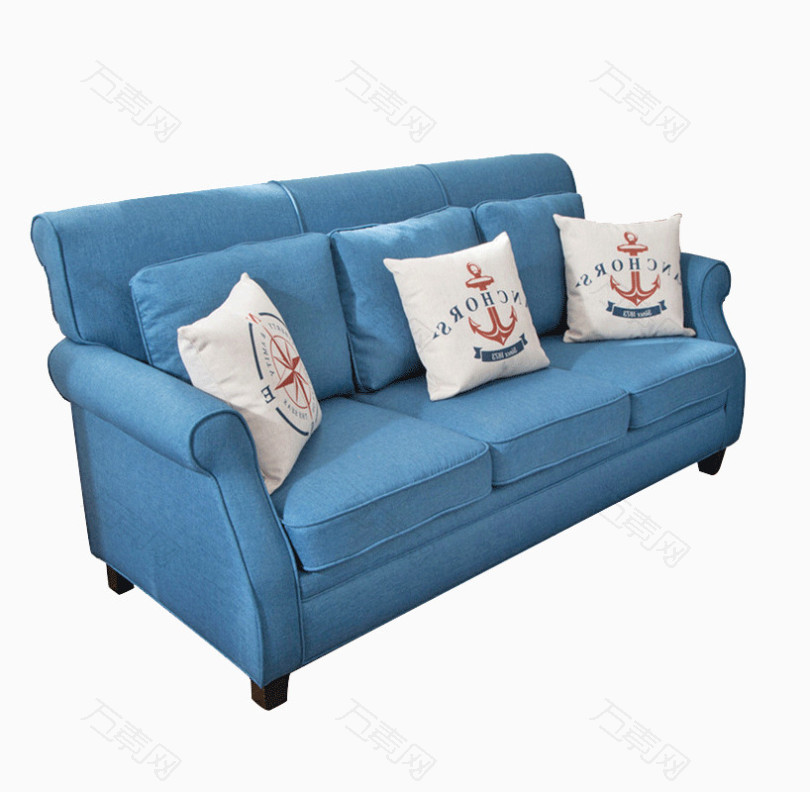 地中海风格客厅沙发三人