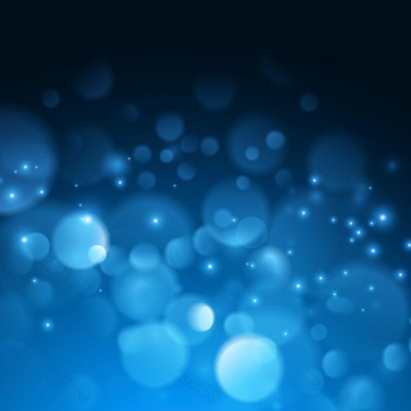 蓝色星光光晕梦幻背景