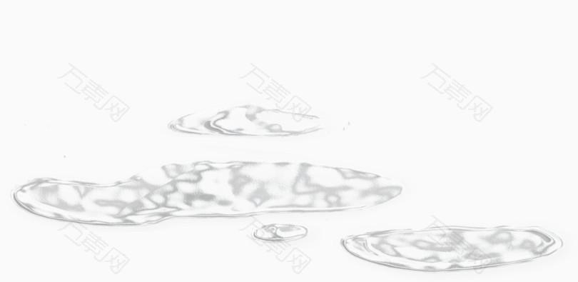 白色创意水渍