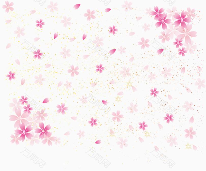 樱花粉色背景底纹
