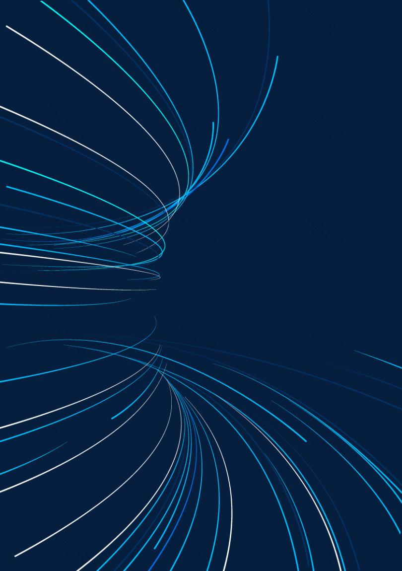 矢量手绘蓝色科技线条