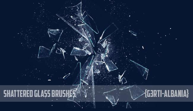 超酷的碎玻璃特效笔刷