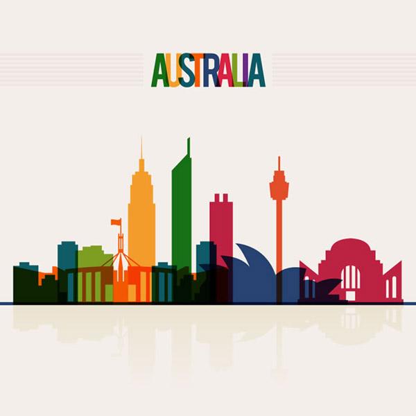 澳大利亚城市剪影