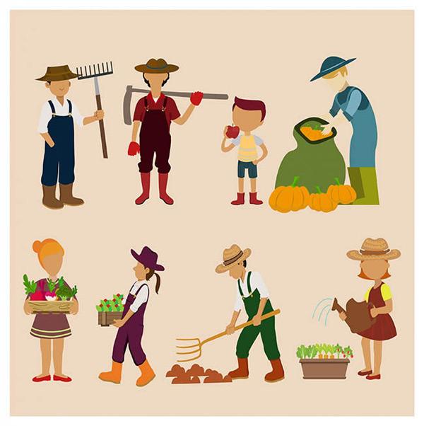 农业工作人物