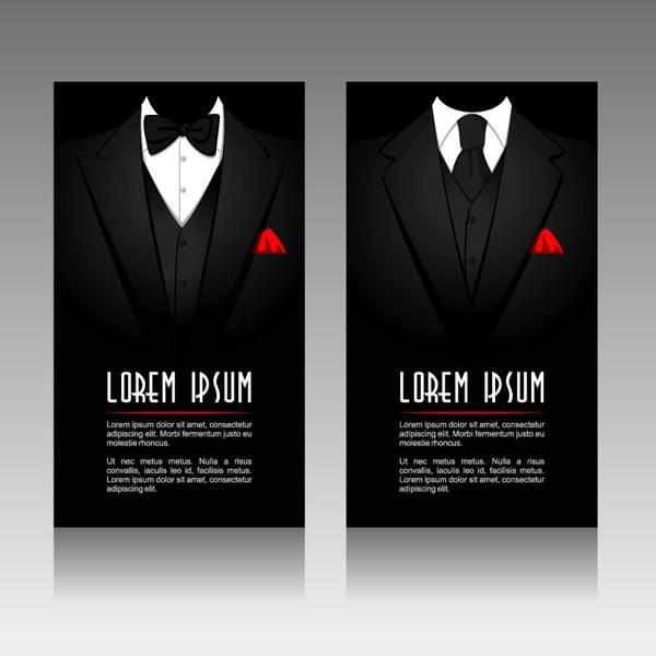 黑色西装卡片