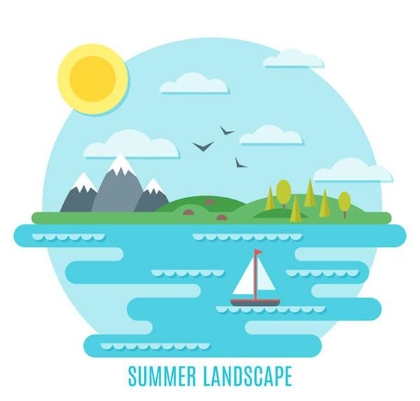 夏季海边风景