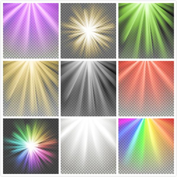 光线光效元素矢量