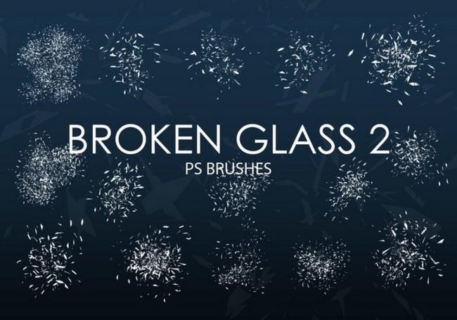 15款高清晰玻璃碎片PS笔刷