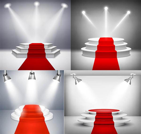舞台红毯矢量