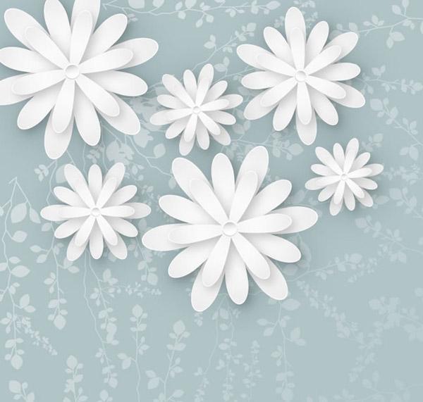 白色花朵剪贴画