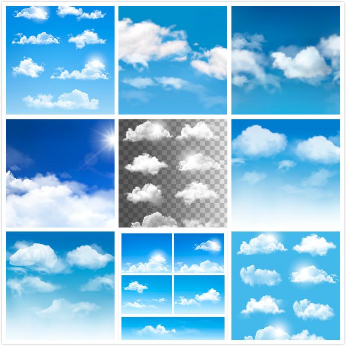 蓝天白云景色