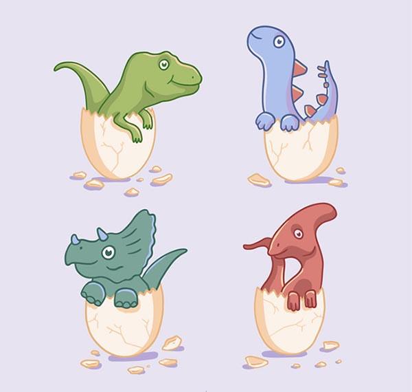 破壳而出的恐龙