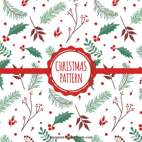 圣诞节底纹背景