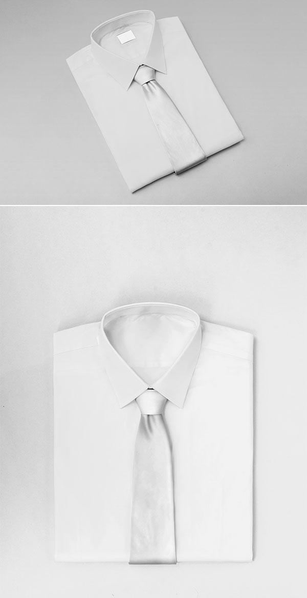 整齐衬衫样机