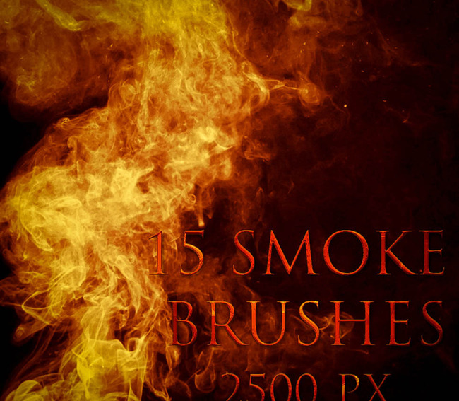 高清晰火焰和烟雾笔刷