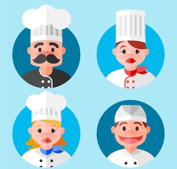 扁平化厨师头像