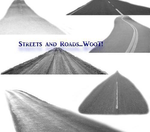 高清晰公路ps笔刷图片