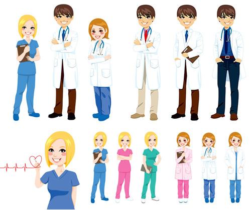 医生护士矢量