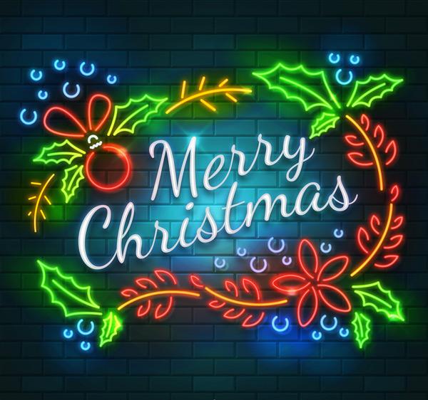 圣诞节霓虹灯花环